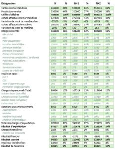 exemple de previsionnel financier - compte de resultat