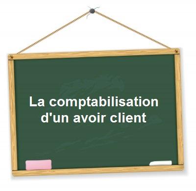 comptabilisation avoir client