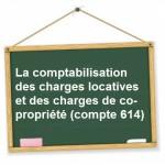 comptabilisation charges locatives de copropriete compte 614