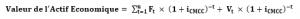 formule de calcul discounted cash flows
