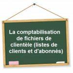 comptabilisation fichiers clients