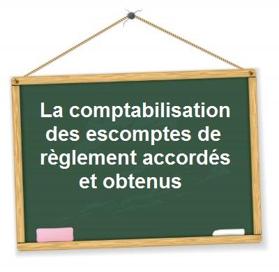 Comptabilisation escompte de règlement