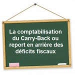 Comptabilisation carry back report en arriere des deficits