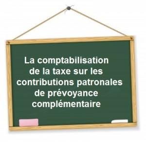 Comptabilisation taxe prevoyance
