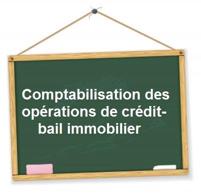 Comptabilisations liées au crédit bail immobilier