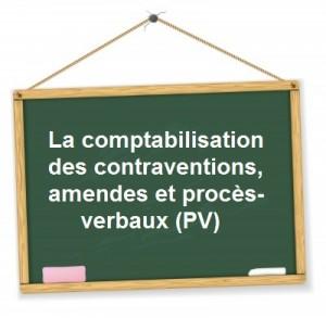 comptabilisation contraventions pv amendes proces verbaux