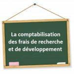 comptabilisation frais de recherche et développement