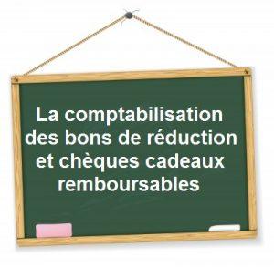 comptabilisation bon reduction cheque cadeau recuperable