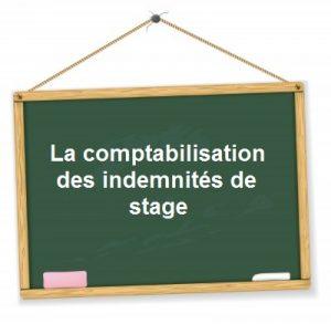 comptabilisation indemnite stage gratification