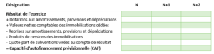 tableau calcul caf business plan