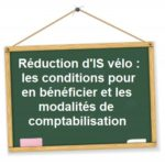 reduction is velo conditions comptabilisation